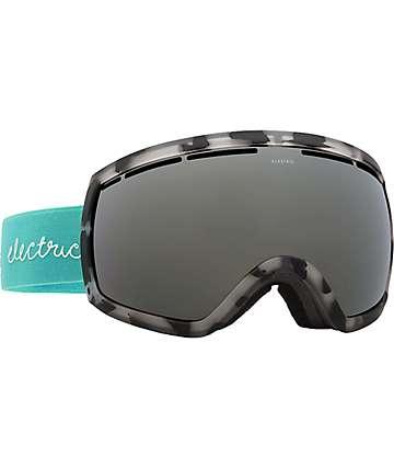 Electric EG2-W máscara de snowboard en bordes tortuga marina y lentes plata cromo