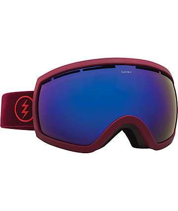 Electric EG2.5 máscara de snowboard con contornos vino y lentes azul cromado