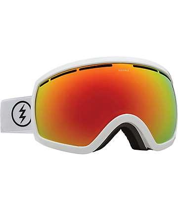 Electric EG2.5 máscara de snowboard en blanco esmaltado y rojo cromo