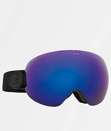 Electric EG3 Matte Black, Brose & Blue Chrome Snowboard Goggles