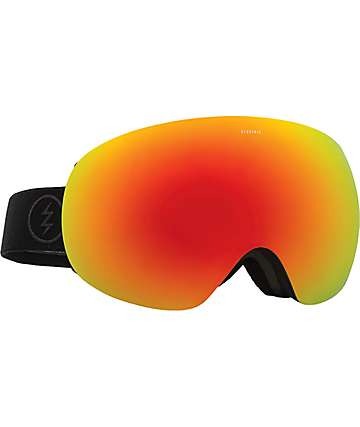 Electric EG3 Matte Black Brose Red Chrome Snowboard Goggles