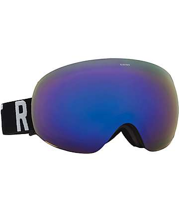 Electric EG3 Matte Black Wordmark Brose Blue Chrome Snowboard Goggles
