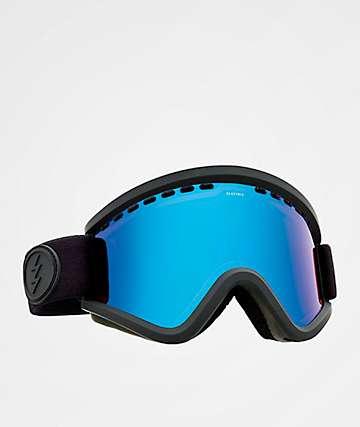 Electric EGV Matte Black Brose Blue Chrome Snowboard Goggles