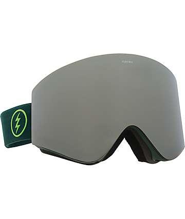 Electric EGX Hunter Green Silver Chrome máscara de snowboard