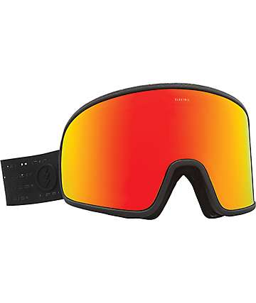 Electric Electrolite Matte Black Red Chrome Snowboard Goggles
