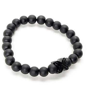Electric Family X Black Beaded Bracelet