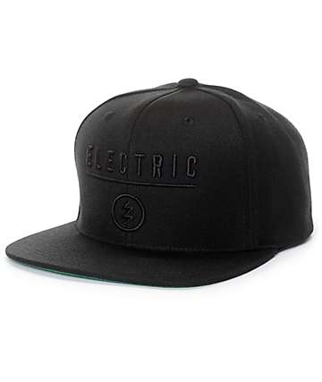 Electric Identity Corp Black Snapback Hat