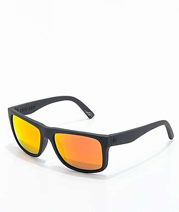 Electric Swingarm gafas de sol negras mate con cromo de fuego