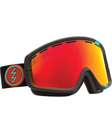 Electric x Gnarly EGB2 Red Chrome Snowboard Goggles