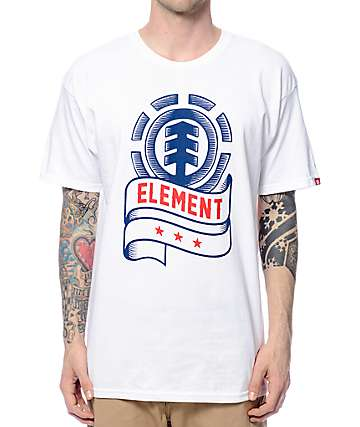 Element Banner White T-Shirt