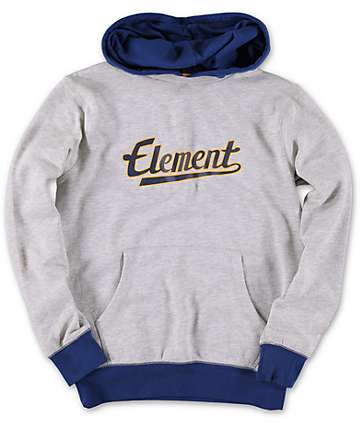 Element Boys Rise Grey Pullover Hoodie