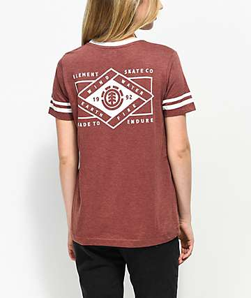 Element Bryan Ringer Red T-Shirt