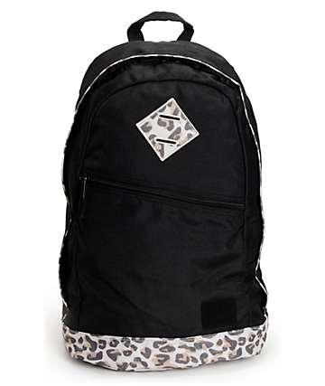 Element Cammie Leopard Print Black Backpack