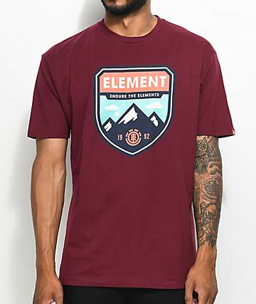 Element Cascades Maroon T-Shirt