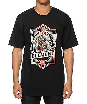 Element Chief Black T-Shirt