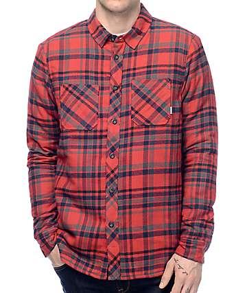 Element Cupsaw Sherpa camisa de franela en rojo