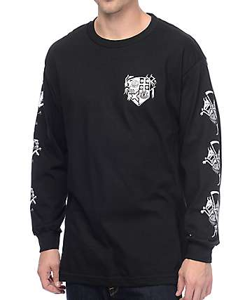 Element Elemental Wizards Black Long Sleeve T-Shirt