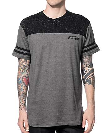 Element Franchise Heather Black Henley T-Shirt