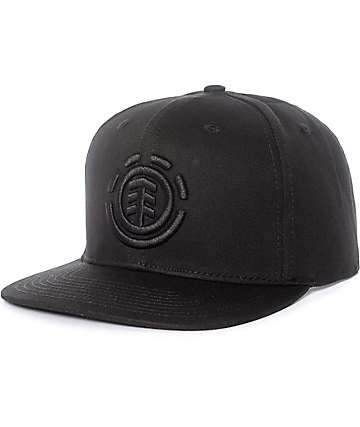 Element Knutsen Black & Black Snapback Hat