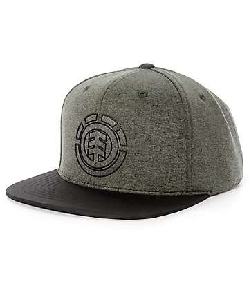Element Knutsen Charcoal, Black & Grey Snapback Hat