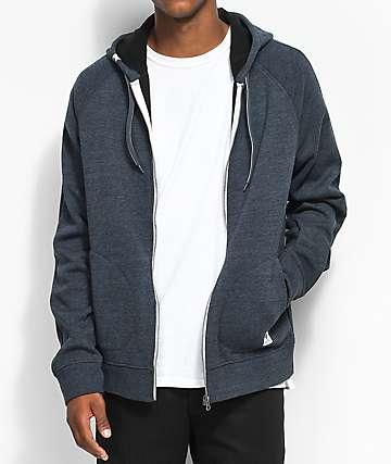Element Meridian Bonded Fleece Full Zip Charcoal Hoodie