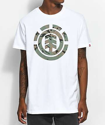 Element Mimic Camo Optic White T-Shirt