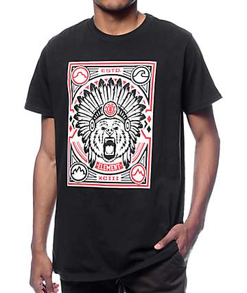 Element Roaring Black T-Shirt