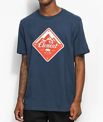 Element Route Eclipse Navy T-Shirt