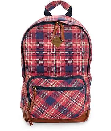 Element Sandpiper Firewood Plaid Backpack
