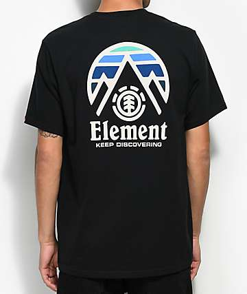 Element Tri Tip Flint Black T-Shirt