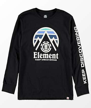 Element Tri Tip camiseta negra de manga larga