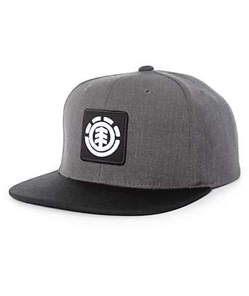 Element United Black & Grey Snapback Hat