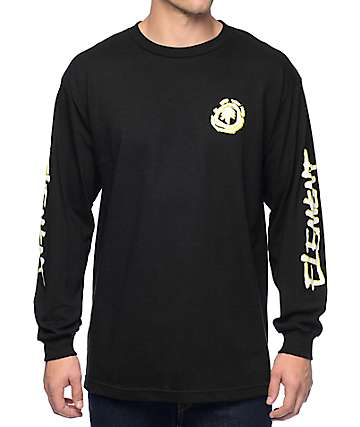 Element x FOS Faction Black Long Sleeve T-Shirt