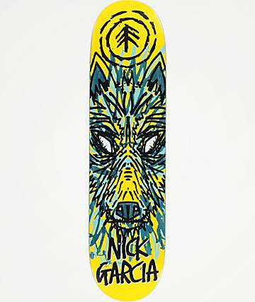"Element x FOS Garcia Wolf 8.0"" Skateboard Deck"