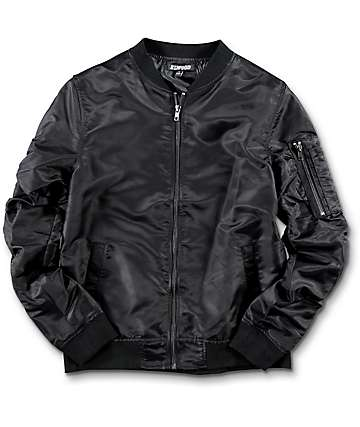 Elwood Boys Black Bomber Jacket