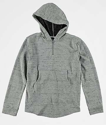 Elwood Boys Curved Hem Grey Long Sleeve Hoodie