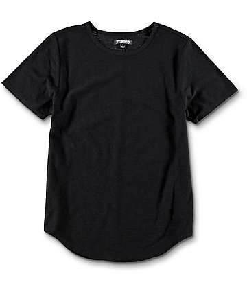 Elwood Boys Curved Seam Hem Black T-Shirt