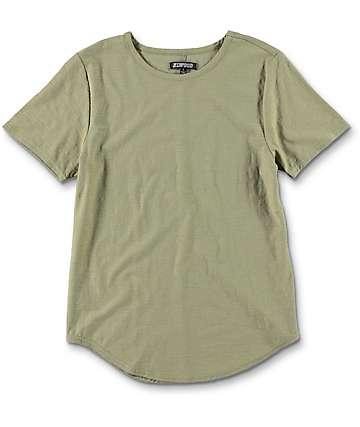 Elwood Boys Curved Seam Hem Olive T-Shirt
