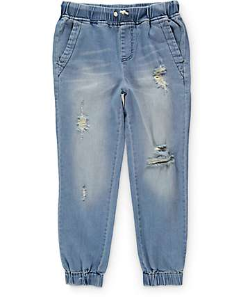 Elwood Boys Distressed Denim Jogger Pants