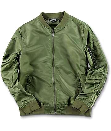 Elwood Boys Olive Bomber Jacket