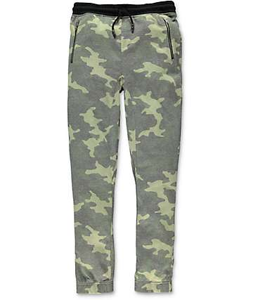 Elwood Boys Zipper Pocket Camo Jogger Pants