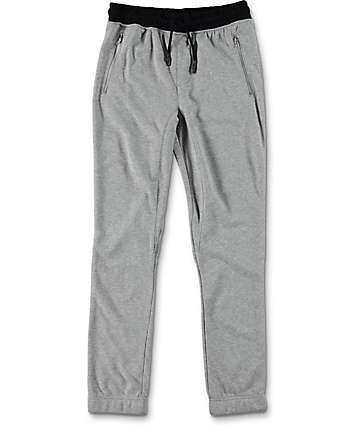 Elwood Boys Zipper Pocket Heather Grey Jogger Pants