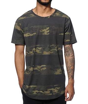 Elwood Camo Curved Hem Long T-Shirt