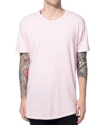 Elwood Curved Hem Light Pink Tall T-Shirt