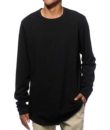 Elwood Curved Hem Long Sleeve Long T-Shirt