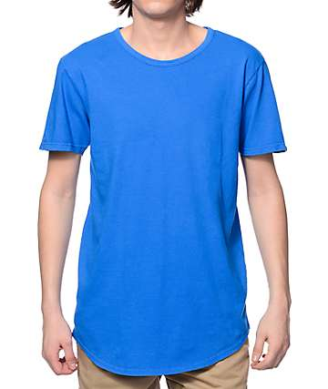 Elwood Curved Hem Royal Blue Tall T-Shirt