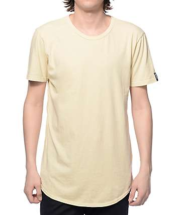 Elwood Curved Hem Sand Tall T-Shirt