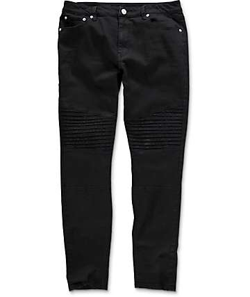 Elwood Moto Black Denim Jeans