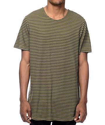 Elwood Olive & Black Stripe Thermal Tall T-Shirt