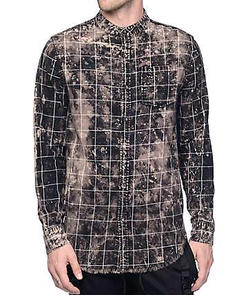 Elwood Patchwork Black & Bleach Flannel Shirt